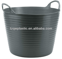 25L Hand-Hold Plastic Flexible Garden Buckets for Planting