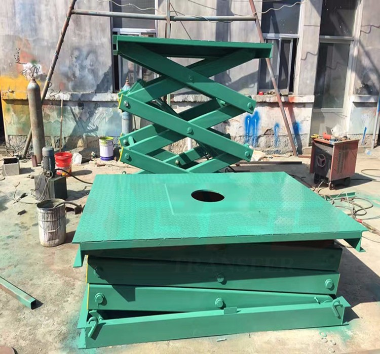 Motorized stationary scissor lift table 1000 lb capacity workshop transport