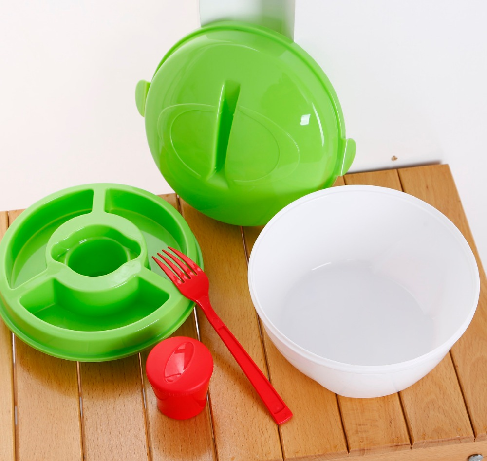 BFA Free plastic Salad Bowl Set With lid/plastic salad bowl set with fork/ Salad bowl
