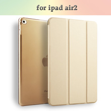 Hot Sale Leather Tablet Case Smart PU Cover Case For iPad 6 Air2