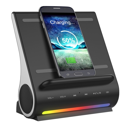 3 in 1 Docking Station + Bluetooth Speaker + QI Wireless Charger, CW6687E Processor, Support TF music Player / Incoming Call Pi