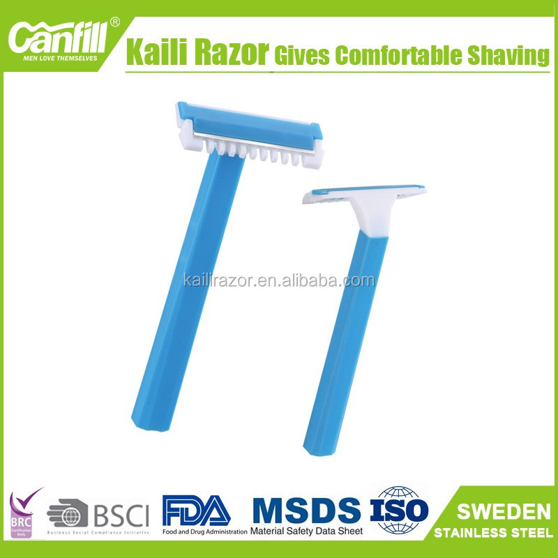 Disposable medical shaving razors in hospital