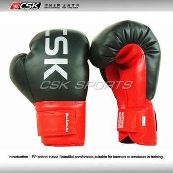Synthetic Leather Velcro Boxing Gloves GX9101 Black Color