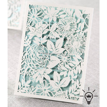 Champion Hollow Flower Laser Cut wedding invitations,New design wholesale wedding Pocket Envelope Cover invitation card