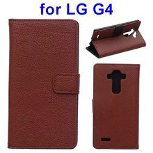 Alibaba china PU Leather flip Wallet stand case for LG G4