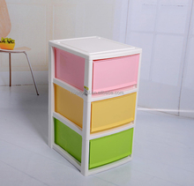 family practical 3-tier colorful plastic clothing drawers