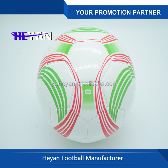 2015 Promotional Machine Stitched Cool Professional Factory Wholesale Football Manufacture Soccer Ball