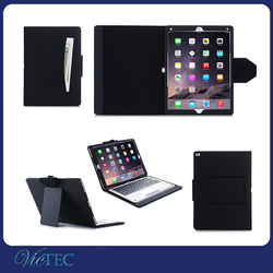 High quality business style for ipad pro book pu leather case covers with holder not include keyboard