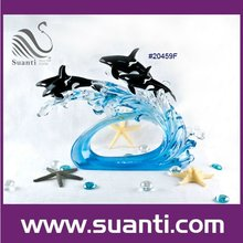 2015 Lovely ocean resin dolphin statues/decorations