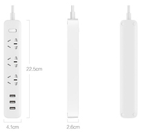 Original Xiaomi Power Strip Outlet Socket 3 USB Extension Socket Plug