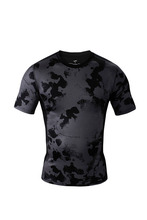 Skin Tights Rash Guard W/ Double Graphic Compression Base Layer MMA GYM Crossfit Running Bodybuilding Tops Shirts