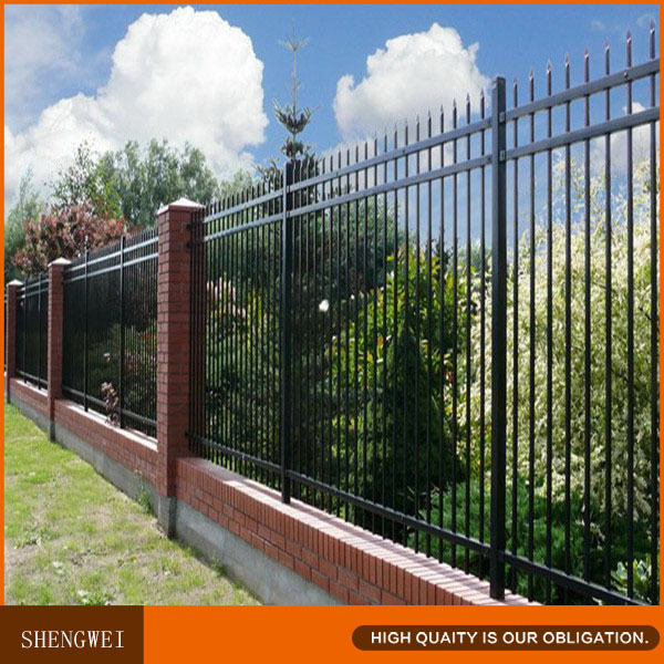 Spear top security wrought iron fencing supplies