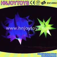 lightweight inflatable LED glow ball plastic ball led