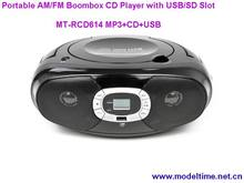 Portable AM/FM Boombox CD Player with USB/SD Slot