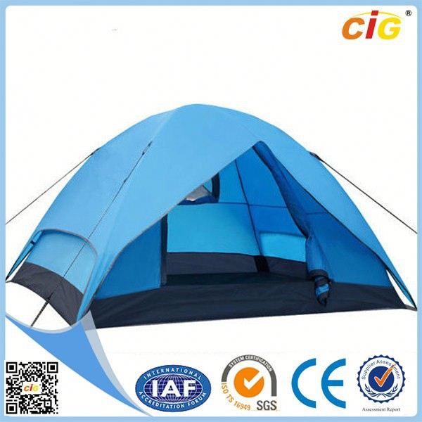 Passed SGS Waterproof small camping trailer with roof top tent