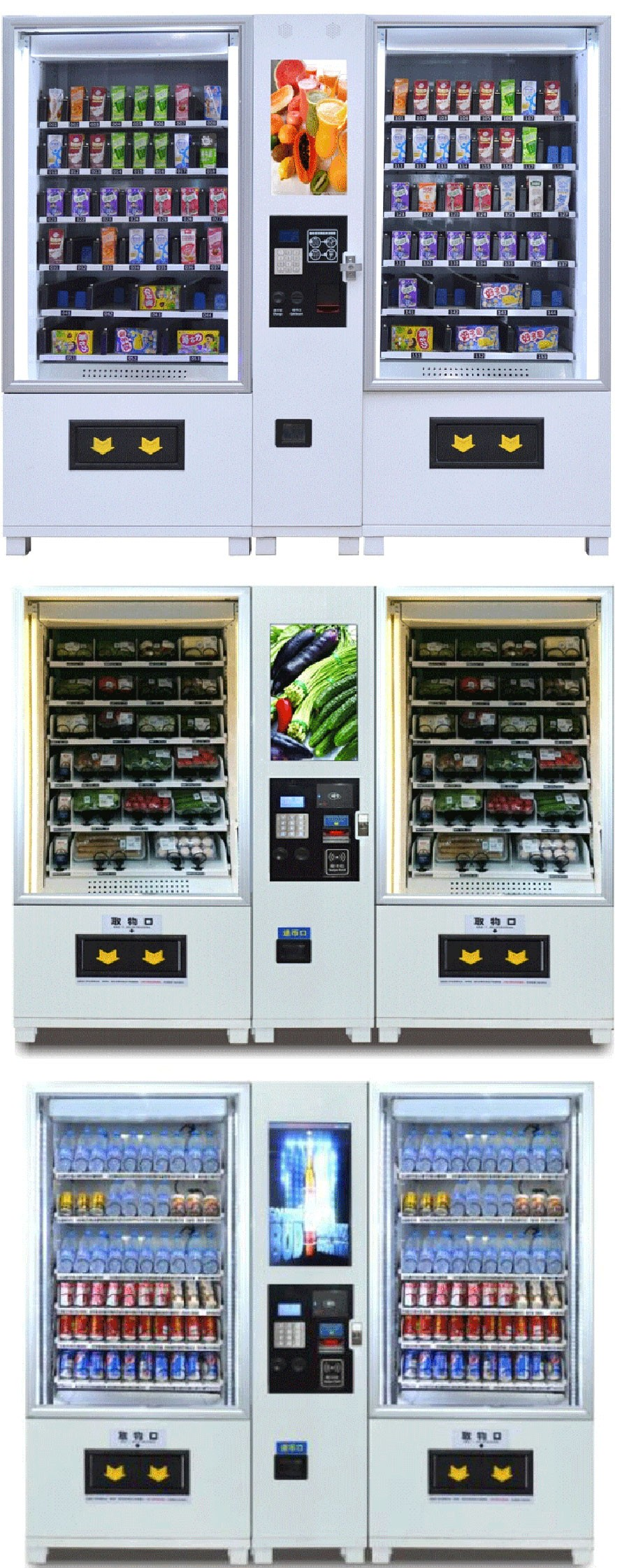 Fresh healthy vending machine for food and fruits