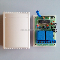 12v 2 channel Small Wireless RF Remote Control Light Switch/ Transmitter and Receiver System