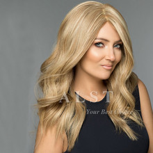Amazing Body Wave 18/22 Light Ash Blonde Blended Brazilian Human Hair Full Lace Womens Lace Wigs