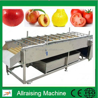 Fruit & Vegetable Washing Drying Waxing Sorting Line Machine Fruits Processing