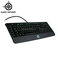 Hot selling new design LED backlit USB professional gaming keyboard