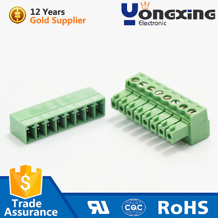 Alibaba top recommend pluggable screwless terminal block