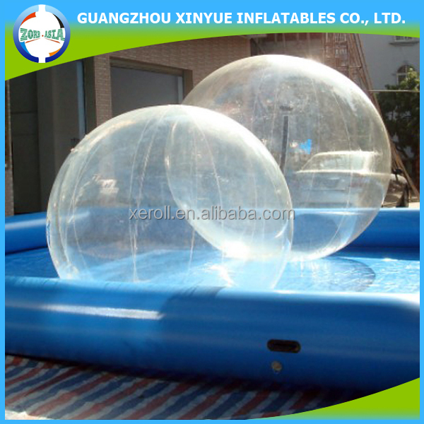 Factory price inflatable pool floating human water bubble ball