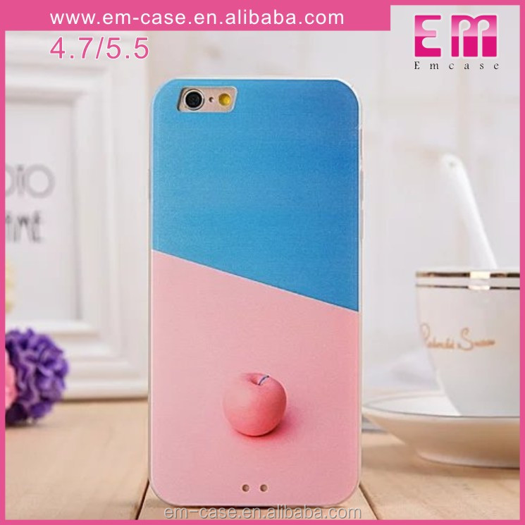 Free sample Printing Colorful Fruit Pattern Soft TPU Protective Phone Back Case for iphone5/6