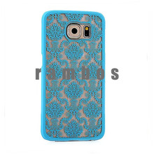 Luxury Hard Case Palace Paper Cut Flower Plastic Clear Retro Case for Samsung Galaxy S4 S5 S6 S6 Edge Alpha