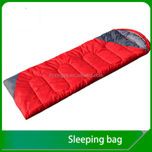Manufacture hollow fibre lightweight audlt Envelope sleeping bag with hood outdoor