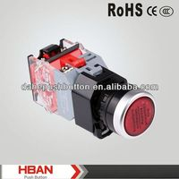 CE ROHS HBS0-DY series monentary/latching round high push button (can illuminated)