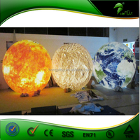 2015 Hongyi Newest Inflatable Lighted Planet Balloon / PVC Inflatable Planet With Led Light