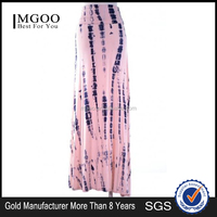 MGOO Custom OEM Women Tie Dye Maxi Skirt Knitted Wrap Around Skirts Vivid Print Ladies Long Skirts