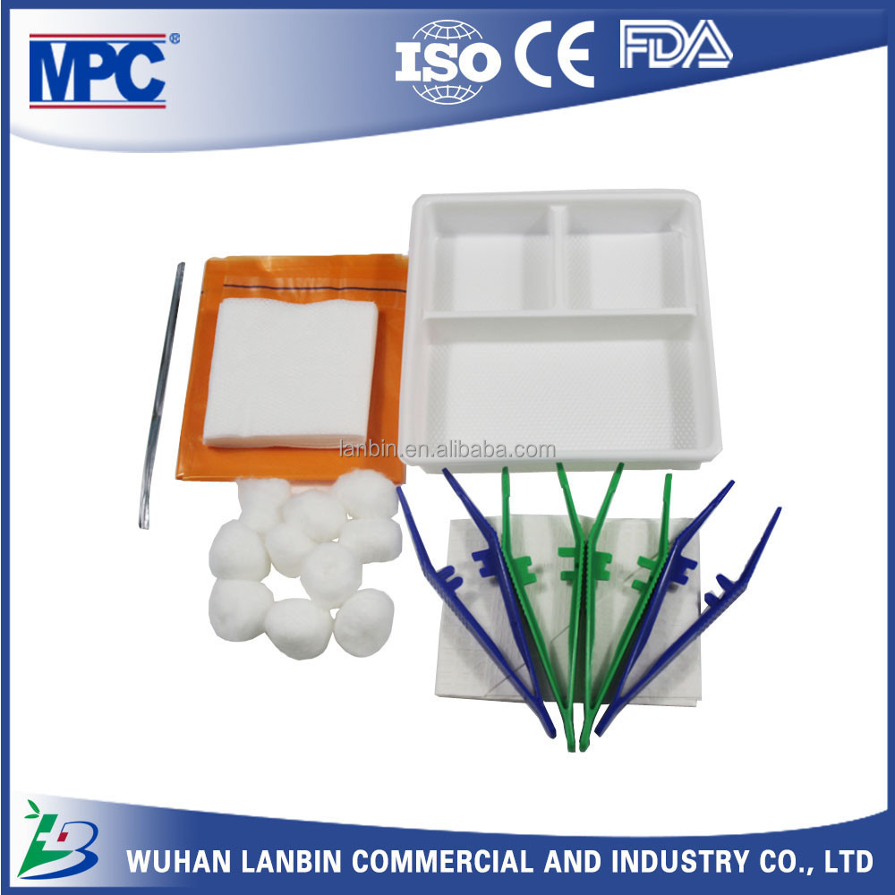 CE ISO FDA Approved OEM Dressing Set with Surgical Medical Disposable Sterile Dental Forceps