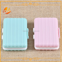 Luggage design coloful cheap plastic cute contact lenses case/box