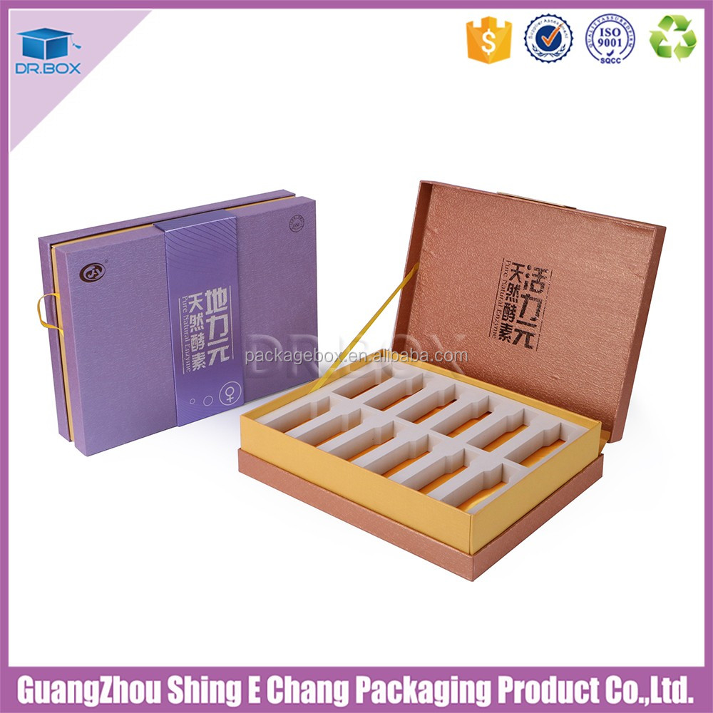 2016 decorative health care products gift box with EVA foam for health care product packing