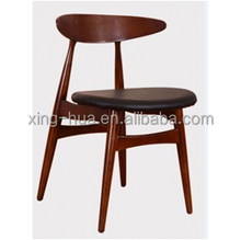 Europe rustic style wooden dining chair made in foshan