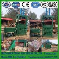 Medical waste packaging press Baling machine/automatic cardboard recycled waste packaging machine