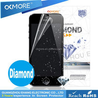 Shinning diamond cheap mobile phone screen protector for s4/i9500