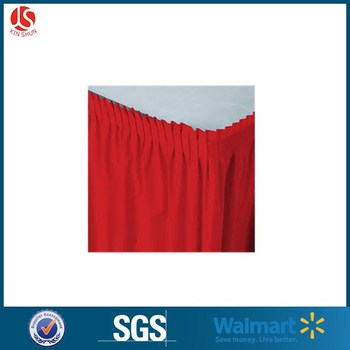 Cheap Price Wedding Ruffled Different Modern Table Skirts