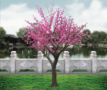 Pink fake light up cherry blossom tree for wedding decor