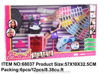 2017 Hottest DIY BETTINA Fashion 11inch Toy Doll with Doll clothes&Doll Furniture (can make different hairstyles&hair colors)