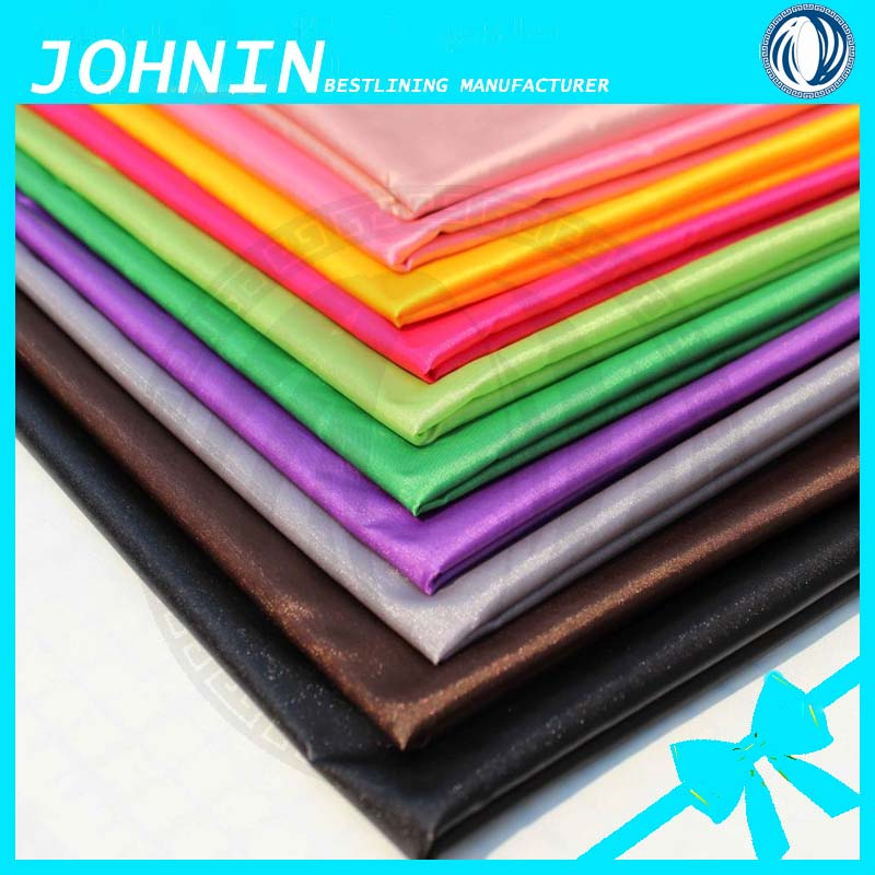 100% Polyester Woven Colorful Satin Wedding Dress Garment Lining