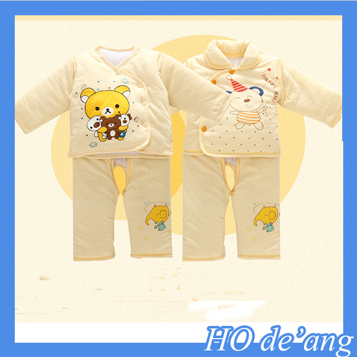 Hogift Wholesale 100% cotton winter baby clothes/infant clothes set