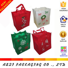 12x13x8.25cm non-woven fabric holiday christmas gift bags