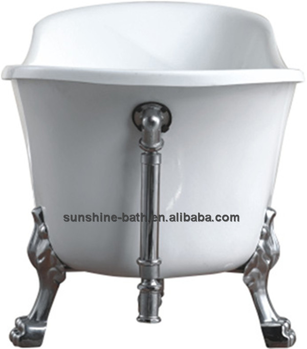 New product freestanding cast iron bathtub ,1 person hot tub