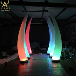 ivory Inflatable Led Tusk For Party event lighted inflatable tusk