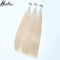 wholesale Prebonded Hair Double Drawn Italy Keratin Flat tip hair extension for woman