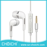 China supplier oem cheap white 3.5mm connector mobile earphone for samsung