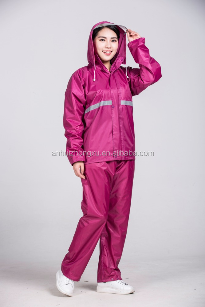 military rainsuit 190t nylon fabric rain suits motorcycle racing rain suits rain suit with hood