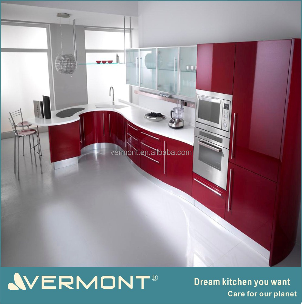High Quality 2018 Vermont New Design Colorful Modular Kitchen Cabinet With Round Cabinet    Buy Modular Kitchen Cabinet,Colorful Modular Kitchen Cabinet,Round Modern  ...
